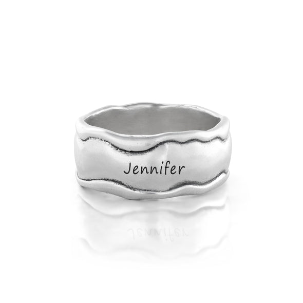 Engravable Band Ring Sterling Silver - Danny Newfeld Collection