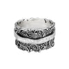 Spinner Ring Sterling Silver Lacey Design - dannynewfeld