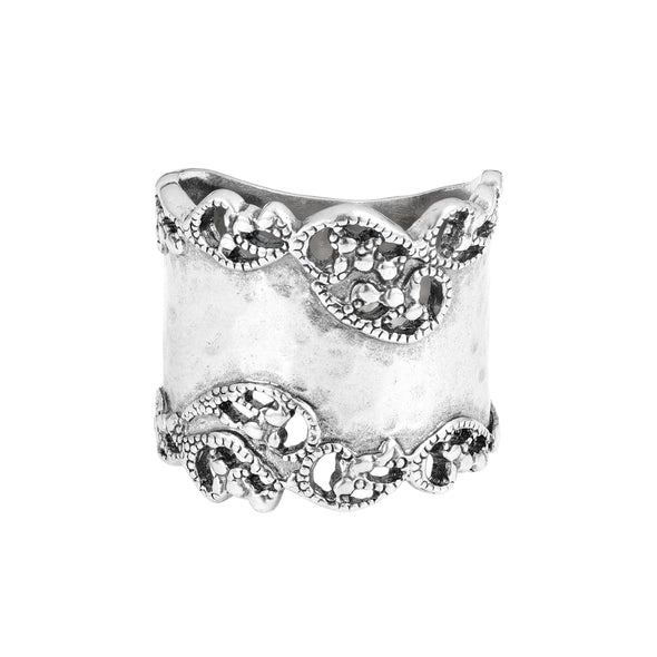 Hammered Filigree Ring Sterling Silver - dannynewfeld