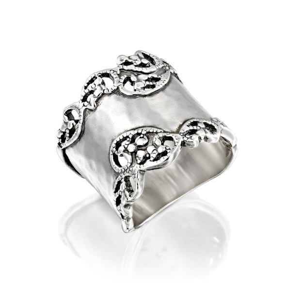 Hammered Filigree Ring Sterling Silver - Danny Newfeld Collection