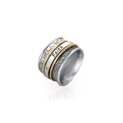 """FAITH, HOPE, LOVE"" Spinner Ring Sterling Silver - dannynewfeld"