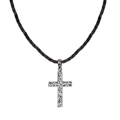 Men's Sterling Silver Filigree Cross Pendant Necklace - Danny Newfeld Collection