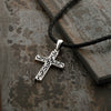Men's Sterling Silver Filigree Cross Pendant Necklace - dannynewfeld