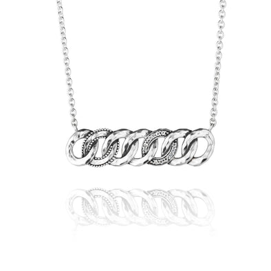 Infinity Gemstone Circle Necklace Sterling Silver - Danny Newfeld Collection