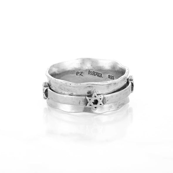 Star of David Spinner Ring Sterling Silver - dannynewfeld