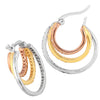 Triple Hoop Cubic Zirconia Gemstone Earrings - dannynewfeld