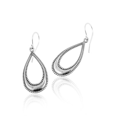 Tear Drop Dangle Earrings Sterling Silver - Danny Newfeld Collection