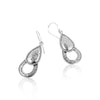 Double Tear Drop Dangle Earrings Sterling Silver - dannynewfeld