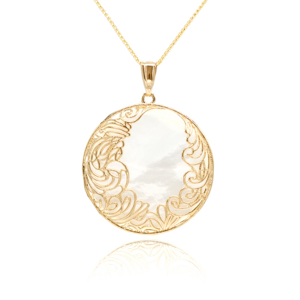 Pearl Pendant Necklace 14K Gold