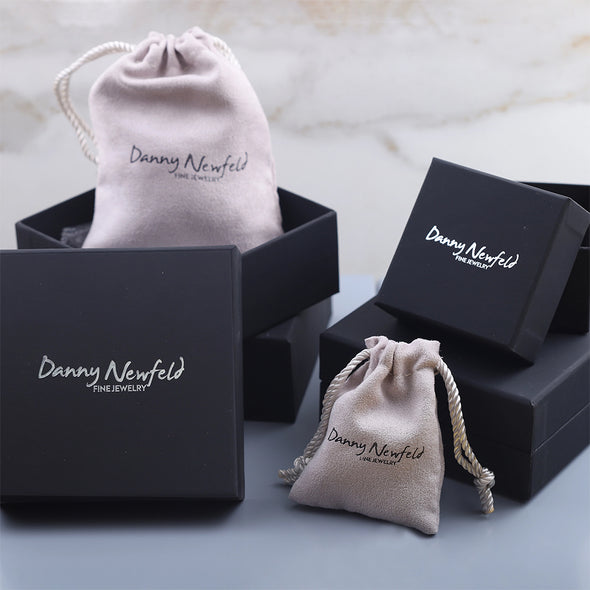 Personalized Beaded Stretch Bracelet with Cross Charm - Danny Newfeld Collection