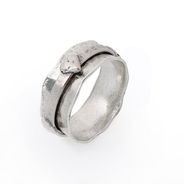 HEART Spinner Ring Sterling Silver - Danny Newfeld Collection