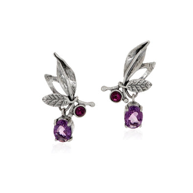 Gemstone Ear Climbers Sterling Silver Earrings - dannynewfeld