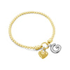 Stretch Charm Bracelet with Heart and Alphabet Charms - Danny Newfeld Collection