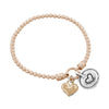 Stretch Charm Bracelet with Two Heart Charms Sterling Silver - dannynewfeld