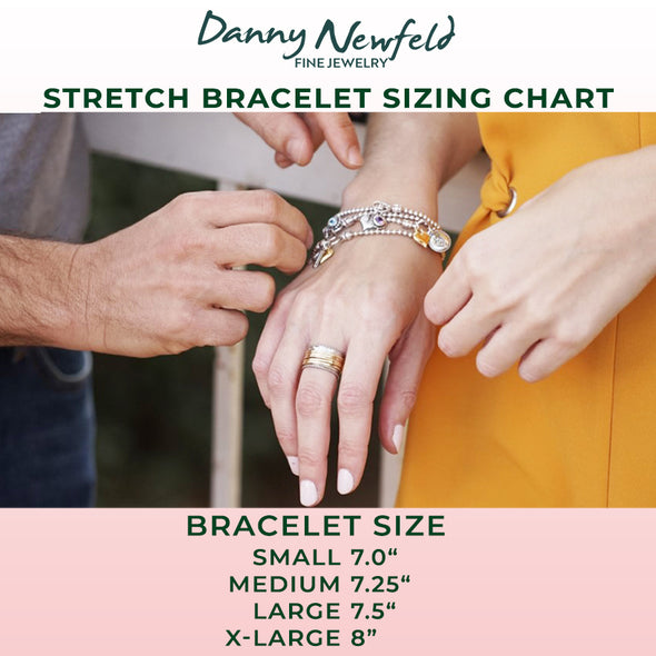 Stretch Charm Bracelet Sterling Silver - Danny Newfeld Collection