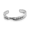 Personalized Twisted Bangle Bracelet Sterling Silver - dannynewfeld