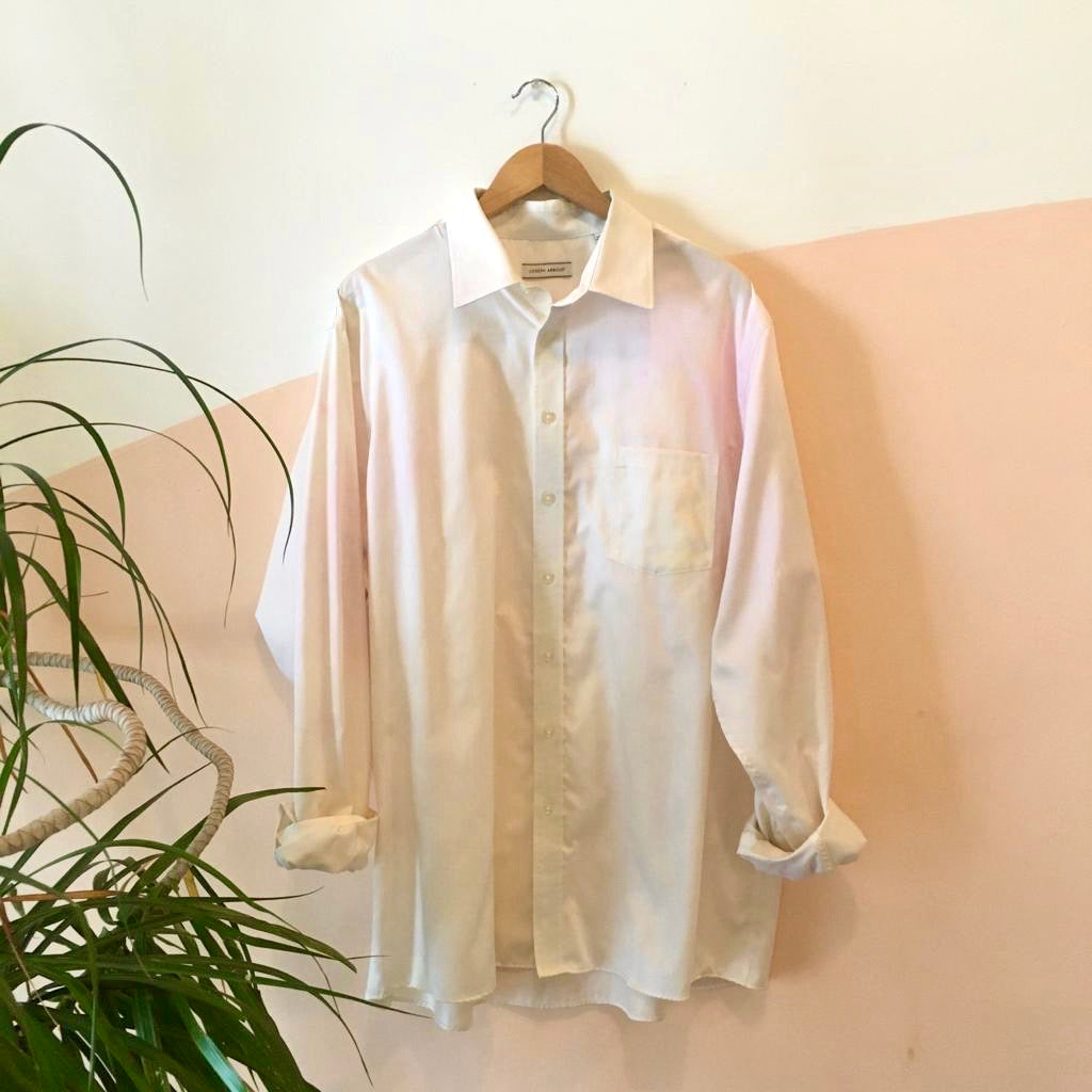 Tie-dye Button Up Shirt - Pink + White