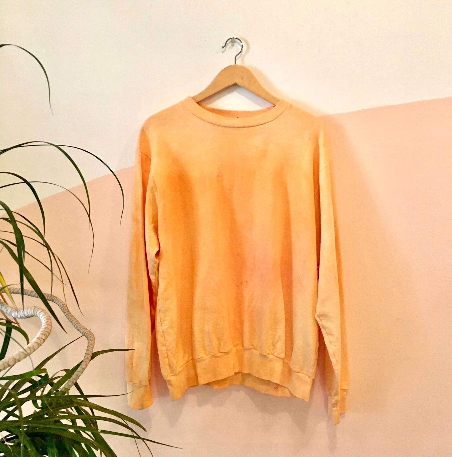 Tie-dye Crewneck Sweatshirt - Orange