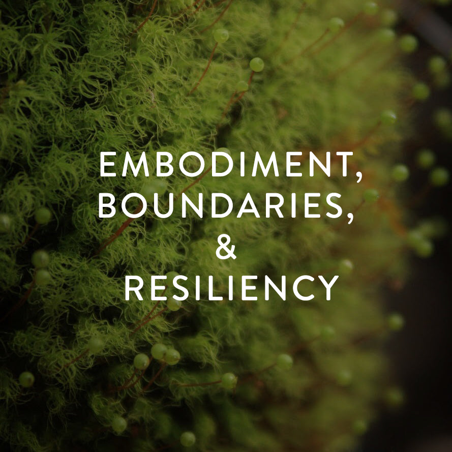 Wednesday, April 24th -- Embodiment, Boundaries, & Resiliency
