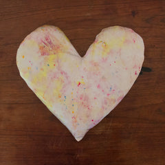 Silk Tie-Dye Heart Pillow