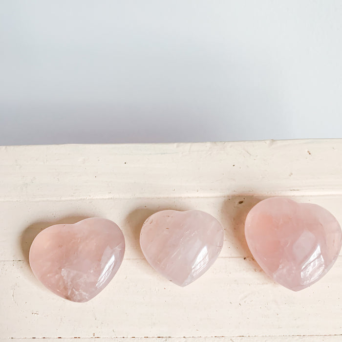 Rose Quartz Heart Mini