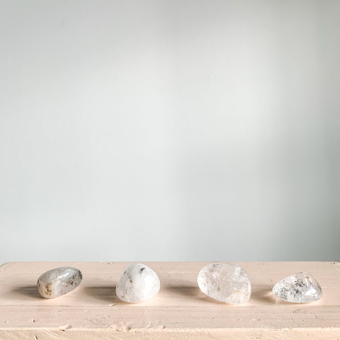 Tumbled Included Quartz Pebbles