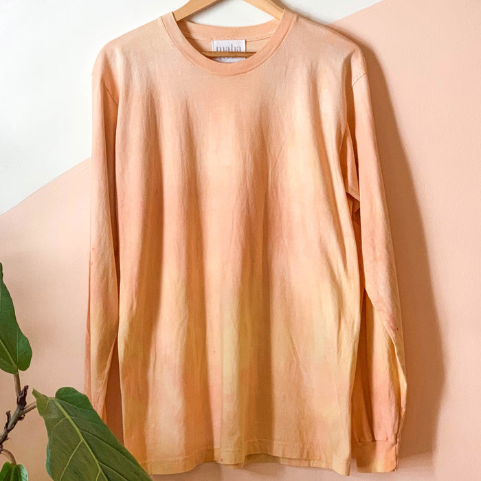 Tie-dye Long Sleeve T-shirt in Orange