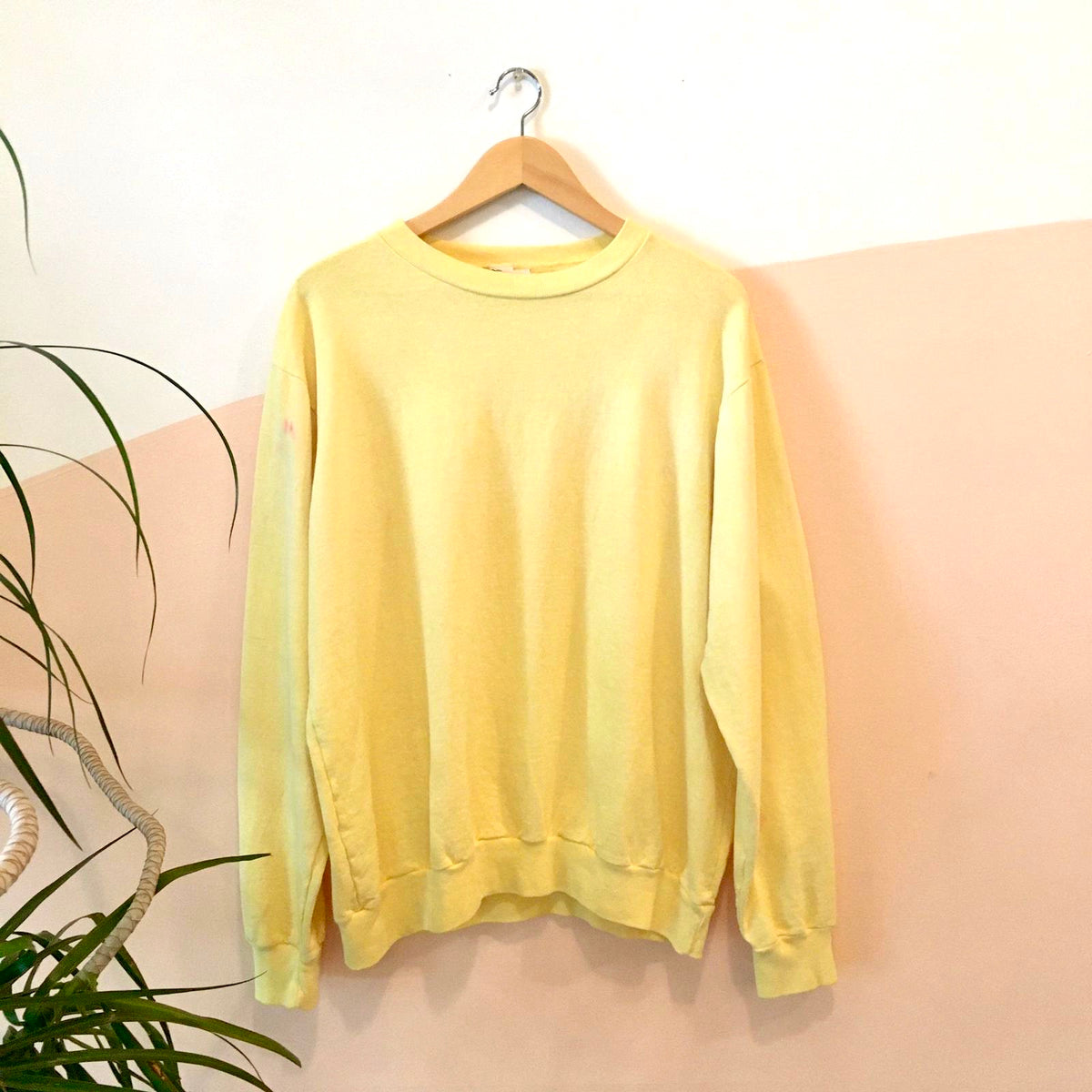 Tie-dye Crewneck Sweatshirt - Lemon Yellow