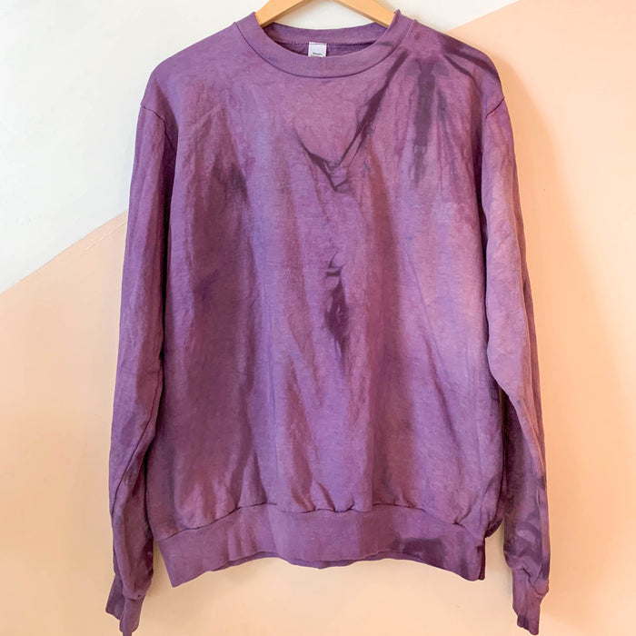 Tie-dye Crewneck Sweatshirt - Grape Colorway