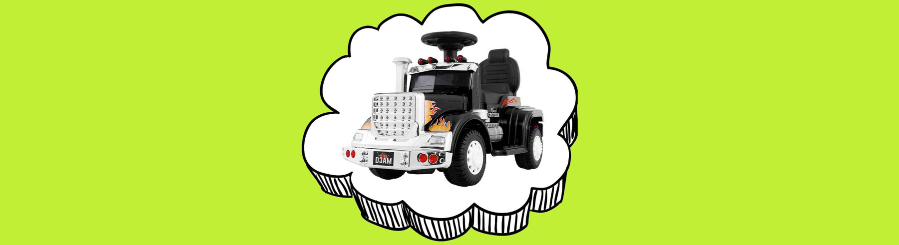 Big Rig Truck Deluxe Kids Ride On Car