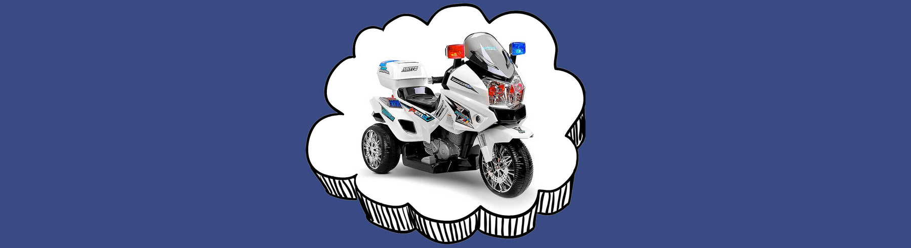 Deluxe Police Inspired Kids Ride On Motorcycle