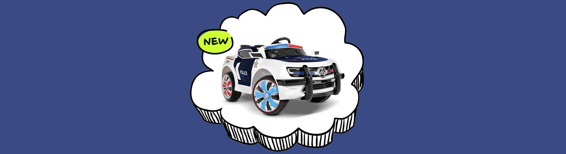 Ford Explorer Police Inspired Kids Ride On Car with Remote Control