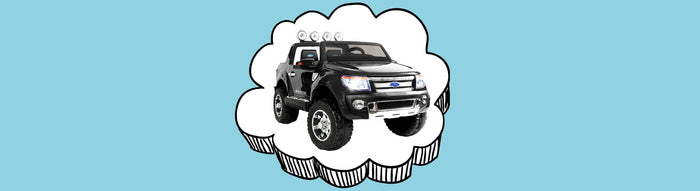 Ford Licensed F150 Ranger Deluxe Kids Ride On Car with Remote Control