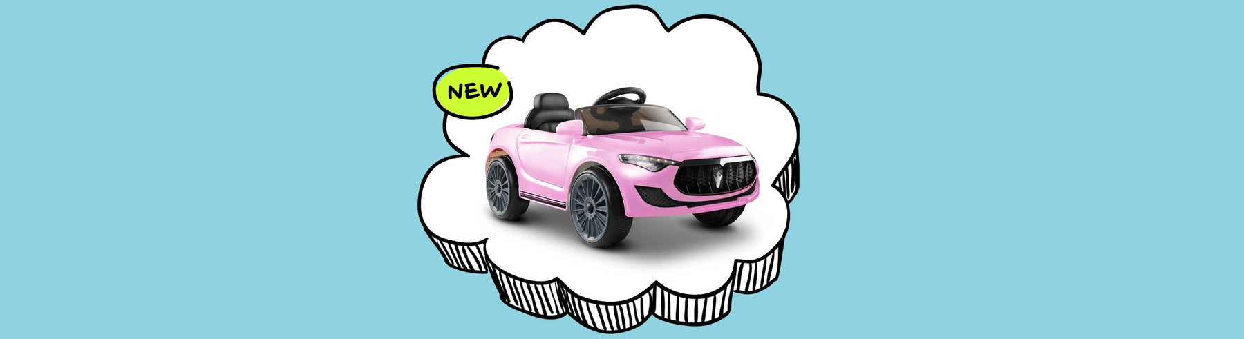 Maserati Inspired Kids Ride On Car_Pink