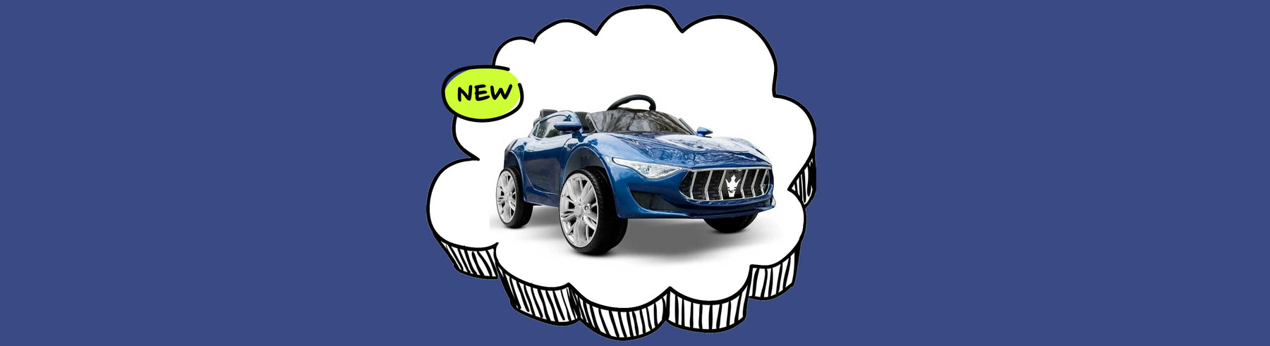 Maserati Inspired Kids Ride on Car with Remote Control