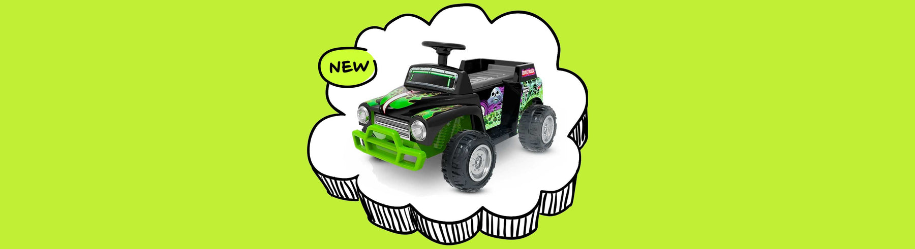 Monster Jam Licensed Grave Digger Monster Truck Kids Ride On