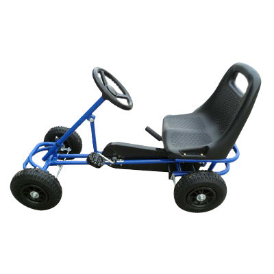Mighty Racer Premium Kids Pedal Powered Go Kart | Blue