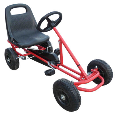 Mighty Racer Premium Kids Pedal Powered Go Kart | Red