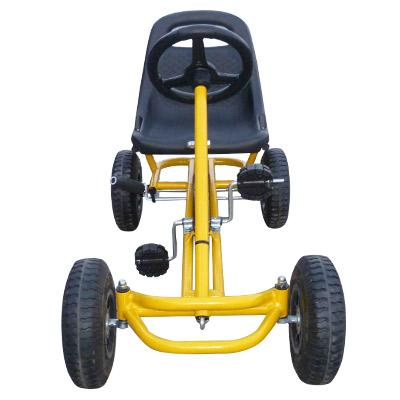 Mighty Racer Premium Kids Pedal Powered Go Kart | Yellow