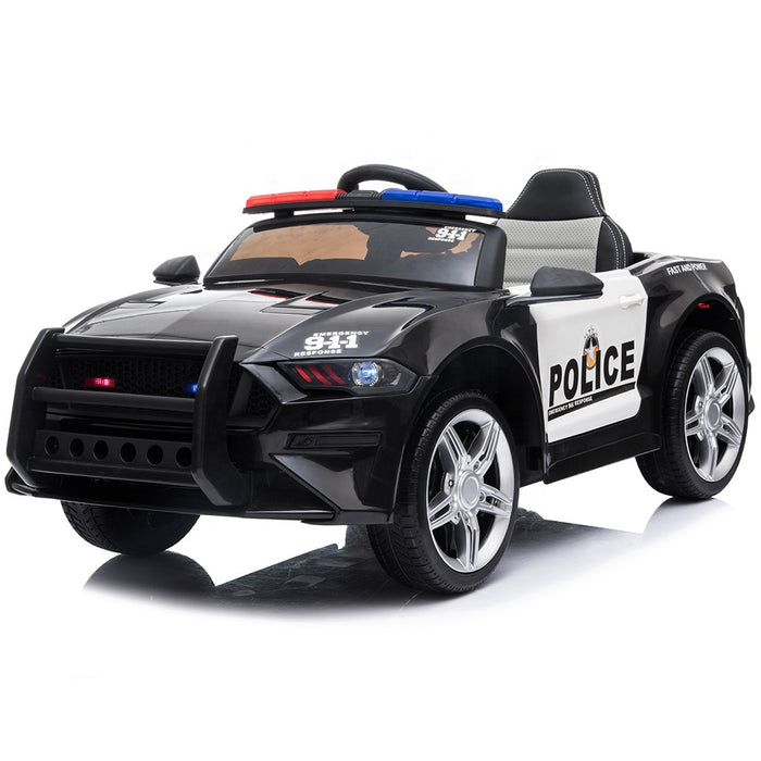Ford Mustang GT350 Police Inspired Kids Ride On Car | White/Black