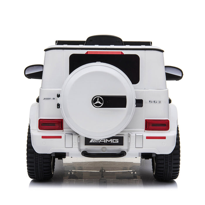 Mercedes Benz G63 AMG Licensed Kids Ride On Car with Remote Control | Black/White
