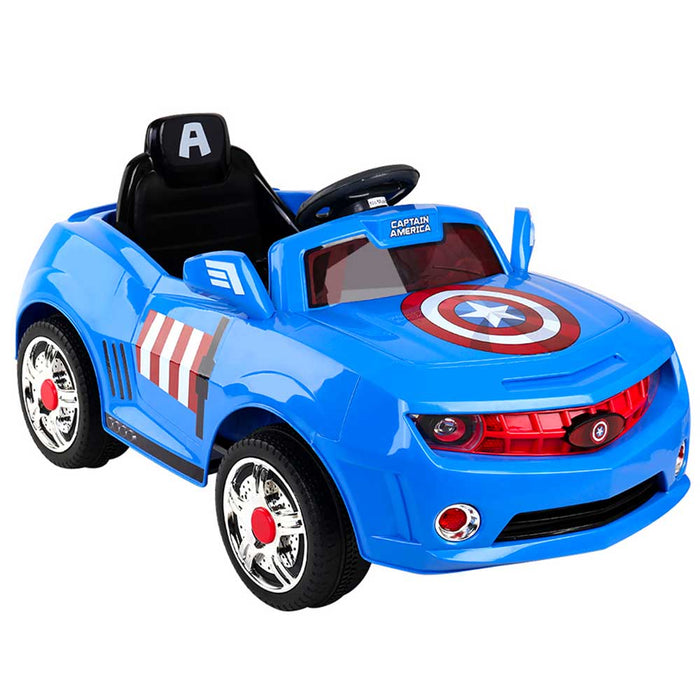 Disney Licensed Avengers Captain America Kids Ride On Car | Red/White/Blue