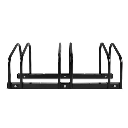 Stand Tall Portable 3 Bike Parking Rack Stand | Black