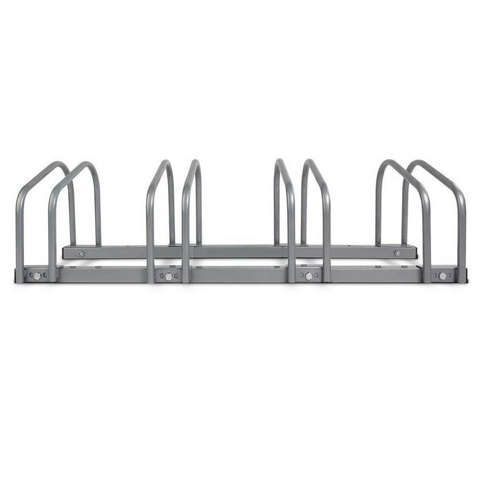 Stand Tall Portable 4 Bike Parking Rack Stand | Silver