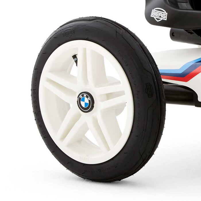 Berg Buddy Officially Licensed BMW Kids Pedal Powered Go Kart | White with BMW Stripes