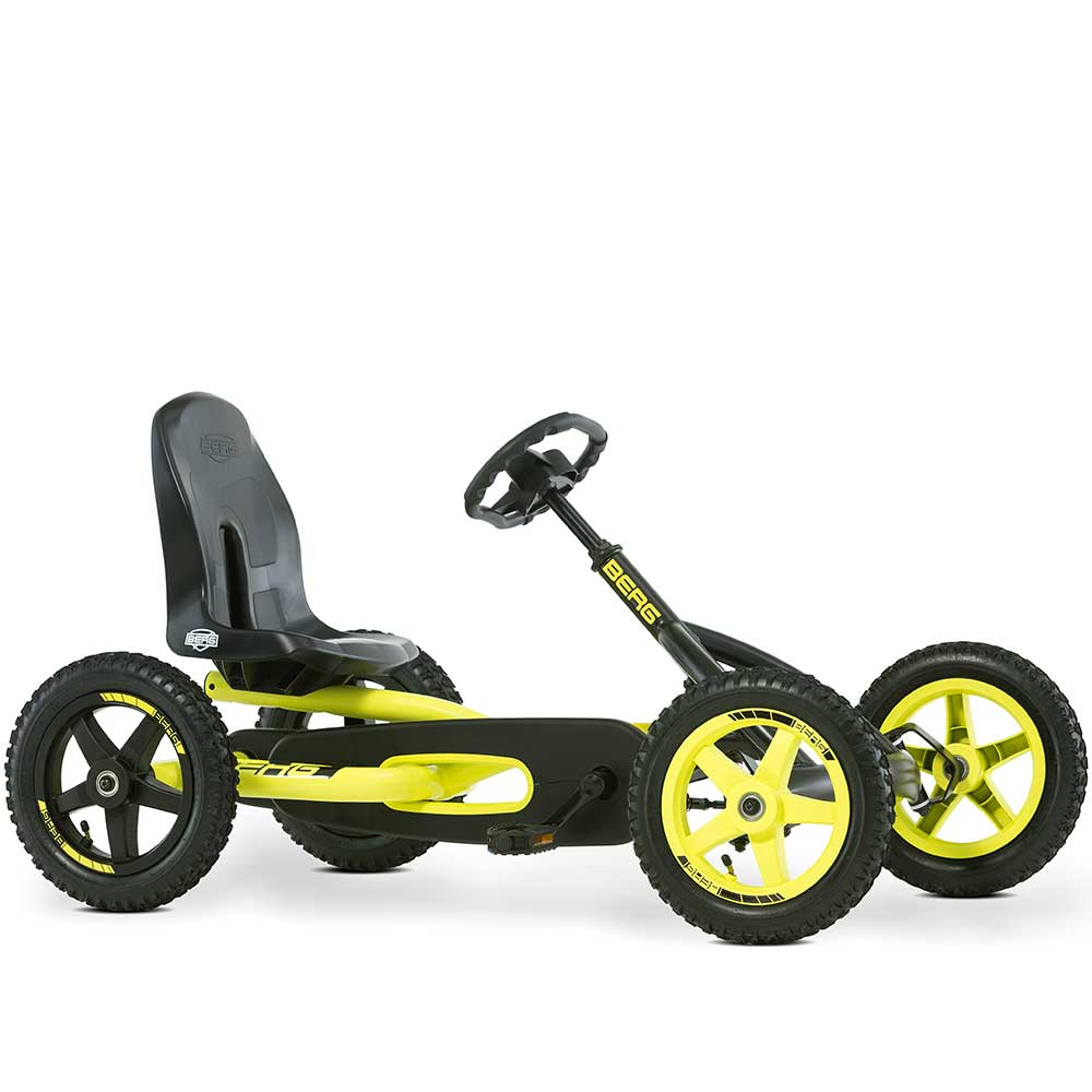 Berg Buddy Off Road Kids Pedal Powered Go Kart | Cross Neon/Black
