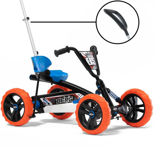 Berg Buzzy 2-in-1 Off Road Kids Push & Pedal Powered Go Kart | Nitro Black
