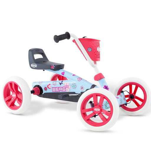 Berg Buzzy Kids Pedal Powered Go Kart with Basket & Stickers | BloomBerg Buzzy Kids Pedal Powered Go Kart with Basket & Stickers | Bloom