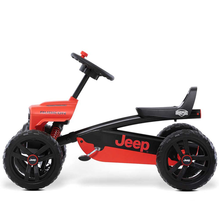Berg Buzzy Officially Licensed JEEP Rubicon Kids Pedal Powered Go Kart | Rubicon Red
