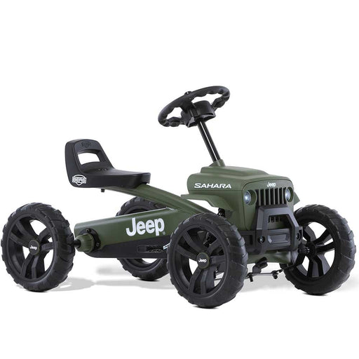 Berg Buzzy Officially Licensed JEEP Sahara Kids Pedal Powered Go Kart | Willys Green